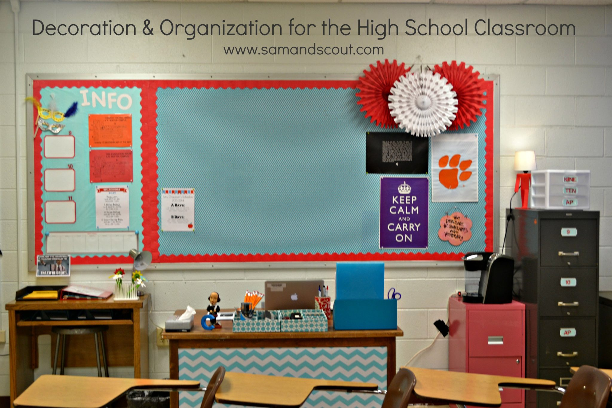 High School Classroom Decor Themes : Decoration organization for the high school classroom